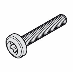 Hafele 020.90.941 Machine Screw, 4.5 x 25 mm, steel, zinc plated (100 pcs/pkg***)