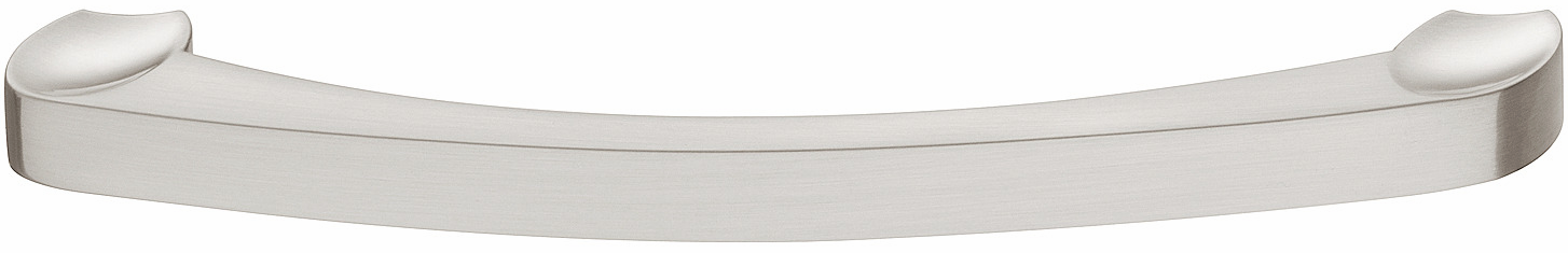 Hafele 110.34.687 Handle, Nouveau, zinc, brushed nickel, 102ZN24, M4, center to center 192mm (each)