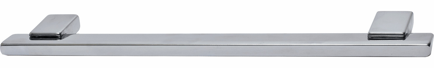 Hafele 111.24.202 Handle, Lago di Como, zinc, polished chrome, 101ZN22, M4, center to center 128mm (each)