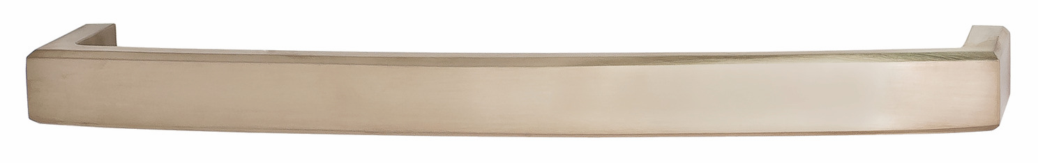 "Hafele 116.36.606 Appliance Handle, Mulberry, brass, brushed nickel, 102BR01, M6, 12"" center to center, with 40mm screws (each)"