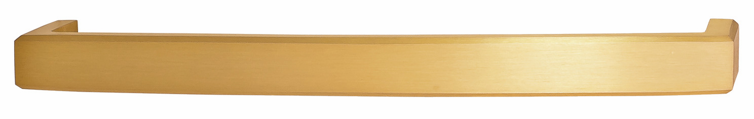 "Hafele 116.36.616 Appliance Handle, Mulberry, brass, brushed brass, 119BR01, M6, 12"" center to center, with 40mm screws (each)"