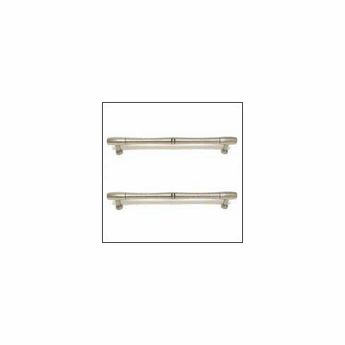 Top Knobs M727-12 PAIR Nouveau Bamboo Back to Back Door Cabinet Pull - Pewter Antique