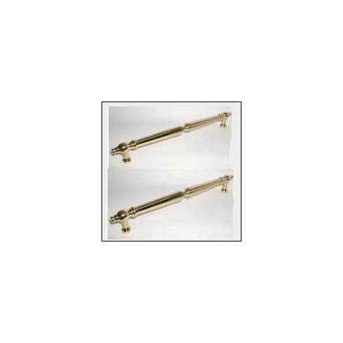 "Top Knobs M729-18 PAIR Appliance Asbury Back to Back Door Pull 18"" (c-c) - Polished Brass **DISCONTINUED - LIMITED AVAILABILITY**, L=20 3/32"", W=1"", P=2 3/16"", CC=18"""