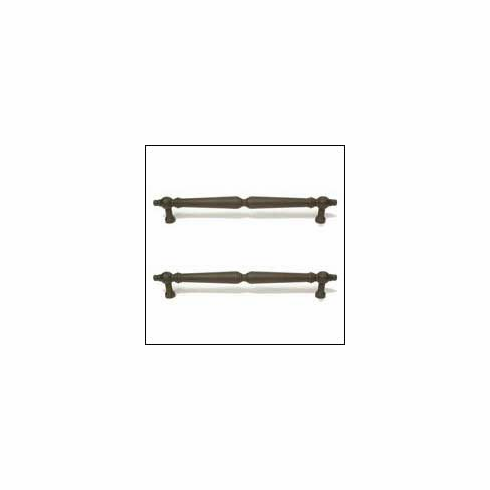 Top Knobs M731-8 pair Asbury Back to Back Door Pull - Rust
