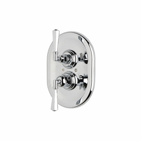 ROHL A4809LMAPC Rohl Palladian Trim Only Concealed Thermostatic Valve In Polished Chrome With Palladian Metal Levers And With Volume Control