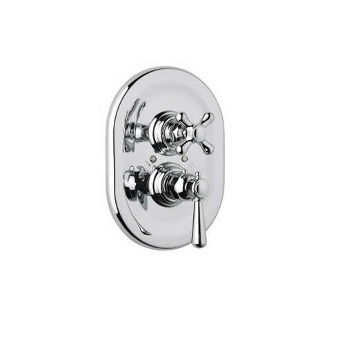 ROHL A2909XMAPC Rohl Country Bath Verona Trim Only Concealed Thermostatic Valve In Polished Chrome With Cross Handles And Volume Control