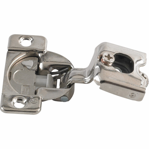 """Hafele 348.90.013 Grass TEC 864 Wrap Around Hinge, 108 degree opening, 3/4"""" overlay, soft-close, screw-on, steel, nickel-plated, 45/9.5 drilling pattern (each)"""