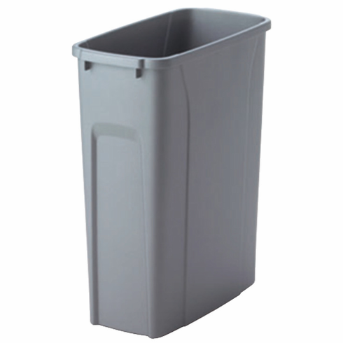 Hafele 503.13.993 KV QT35PB-PT Replacement Trash Can, 35 quart, frosted nickel