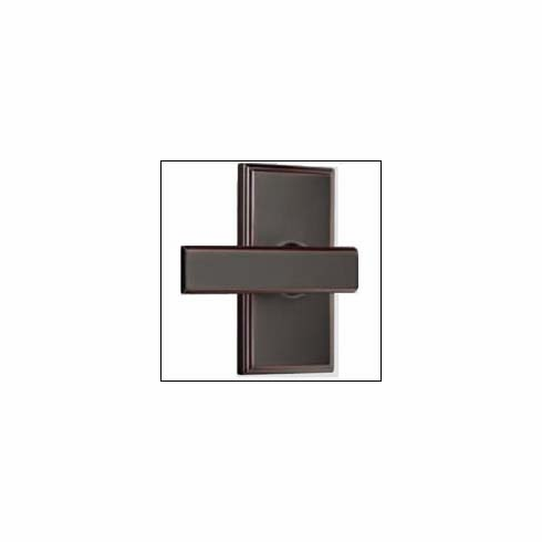 Weslock Elegance Collection 3700-40-p ; 3700 40 p Woodward Utica Non-Handed Leverset Projection From Door 2-1/4 inch , Width/ Dia. of Rose 2-5/8 inch, Length 5 inch, Latch Bolt Throw- 1/2 inch Latch