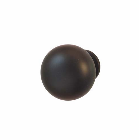 Hafele 134.43.331 Knob, metal, dark oil-rubbed bronze 108ME50, 8-32, 31mm (each)