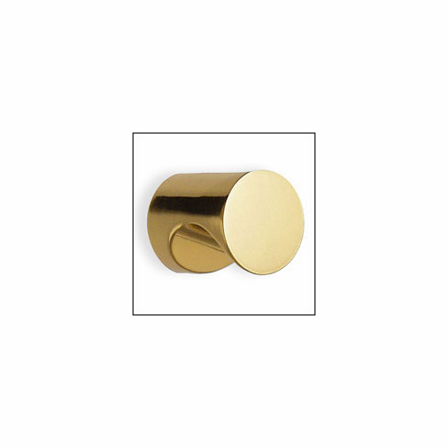 Smedbo Beslagsboden B215 Finger Grip Knob 5/8 inch Polished Brass