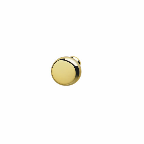 Hafele 134.45.808 Knob, Chelsea, zinc, polished brass, 114ZN49, 8-32, 31mm (each)