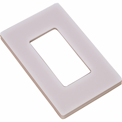 Hafele 820.66.753 Wall Plate for Diva Dimmer Switch, plastic, white, 120x70x10mm
