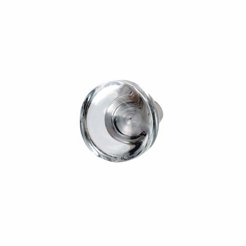 Hafele 135.73.400 Knob, stainless steel / crystal clear, 161SS36, M4, diameter 40mm (each)