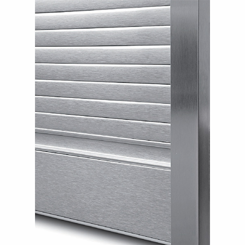 "Hafele 443.17.301 Roller Shutter, Milanobox, aluminum, brushed, standard, for Height = 60"" X Width = 24"" (each)"