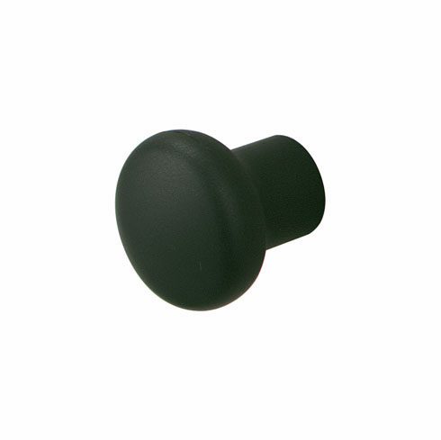 Hafele 136.75.300 Knob, plastic, matt black, 109PL02, 26mm (each)