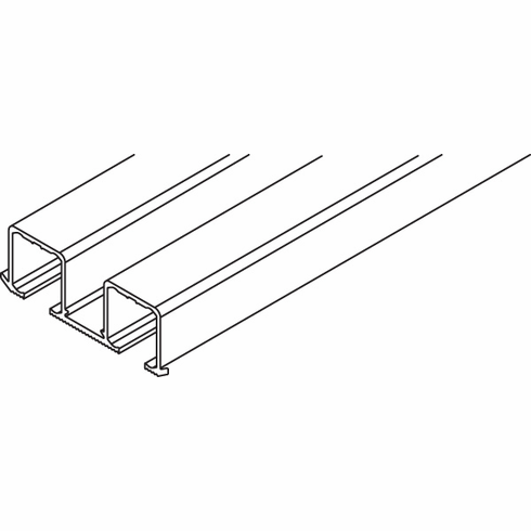 Hafele 405.90.032 Clipo 16 Top Track for screw mount, double, pre-drilled, aluminum, 2.5 meters (each)