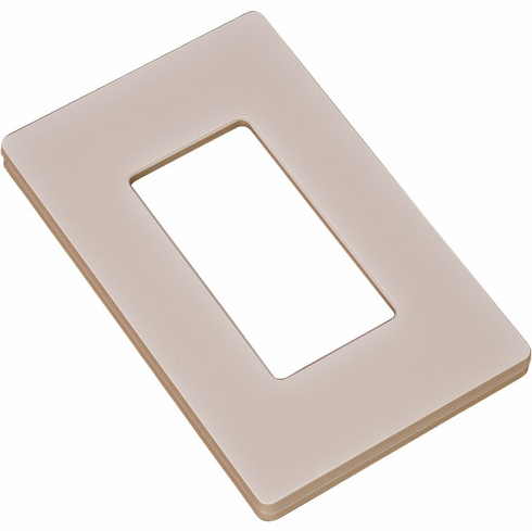 Hafele 820.66.453 Wall Plate for Diva Dimmer Switch, plastic, light almond, 120x70x10mm
