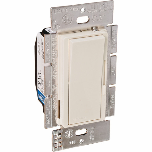 Hafele 820.66.452 Wall Dimmer Switch, Diva, low voltage, plastic, light almond, 600 watt, 3-way 115x57x55mm