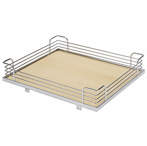 Hafele 548.11.266 Tray Set Arena for Magic Corner Two, version 3, steel, maple/chrome, 390x470x88 (front basket), 390x470x102 (back basket)