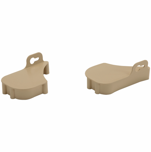 Hafele 545.29.110 Sink Tilt-out Tray Ends, plastic, maple, 63 x 20 x 99mm (1 pair)