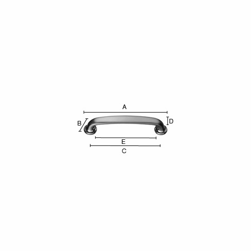 Smedbo Beslagsboden B6121 Contempo Pull 5 1/8 inch Brushed Chrome