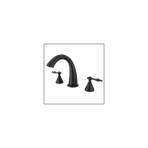 Kingston Brass KS2365NL Naples Roman Tub Filler Oil Rubbed Bronze