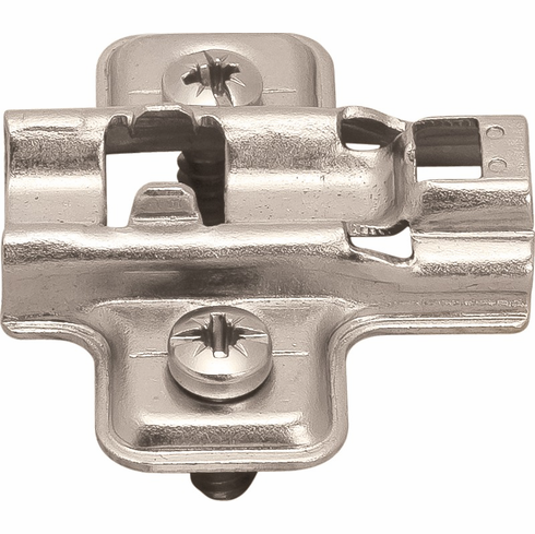 Hafele 315.98.534 Clip Mounting Plate, with pre-installed euroscrews, steel, nickel-plated, Mod 4 (each)