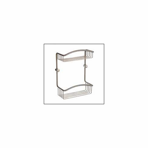 Smedbo C377N Cabin Double Soap Basket Brushed Nickel