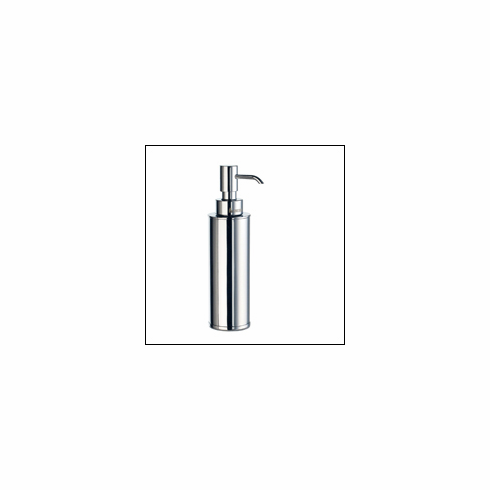 "Smedbo FK254 Outline Polished Chrome 7 1/2"" Soap Dispenser Depth=8 inch, Width= 4 inch, Height= 4 inch."