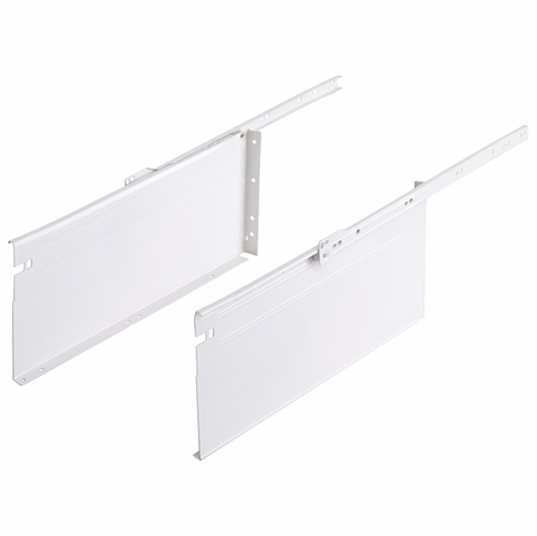 """Hafele 558.55.740 Metal Box System, 6"""" Height, 3/4 extension, steel, epoxy-coated white, 100 lbs, 16"""""""