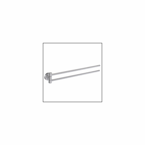 """Smedbo HS326 Home Swing Arm Holder 17"""" Brushed Chrome Depth=2.25 inch, Width= 2.25 inch, Height= 19.25 inch."""