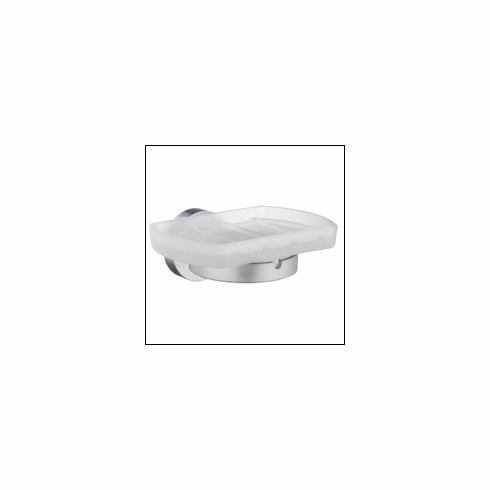 Smedbo HS342 Home Soap Dish Brushed Chrome Depth=3 inch, Width= 4 inch, Height= 5.75 inch.