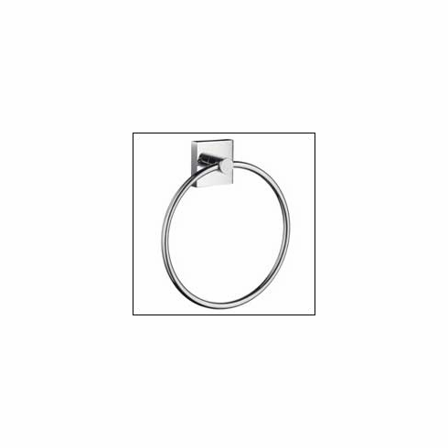 Smedbo RK344 House Towel Ring Polished Chrome Depth=1.75 inch, Width= 7 inch, Height= 9.75 inch.