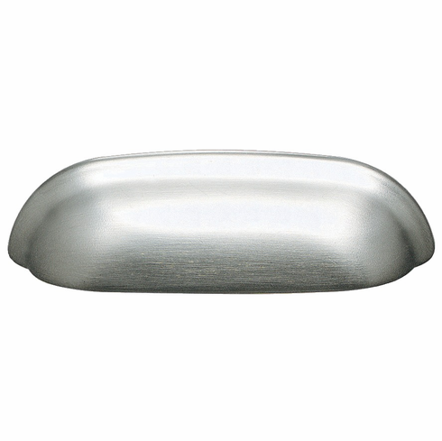 Hafele 105.62.600 Cup handle, zinc, brushed nickel, 102ZN13, M4, center to center 64mm (each)