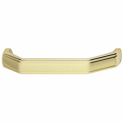 Hafele 102.59.828 Handle, zinc, polished gold, 127ZN08, M4, center to center 96mm (each)