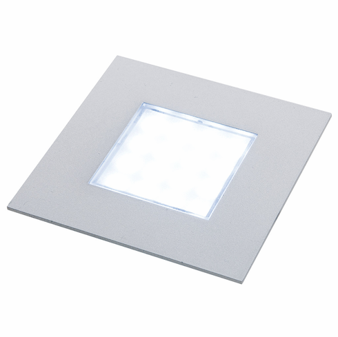 Hafele 830.64.971 Luminoso LED, 12V, Sunny, square, recessed, brushed steel, 3000k, 68mm diameter with Loox plug