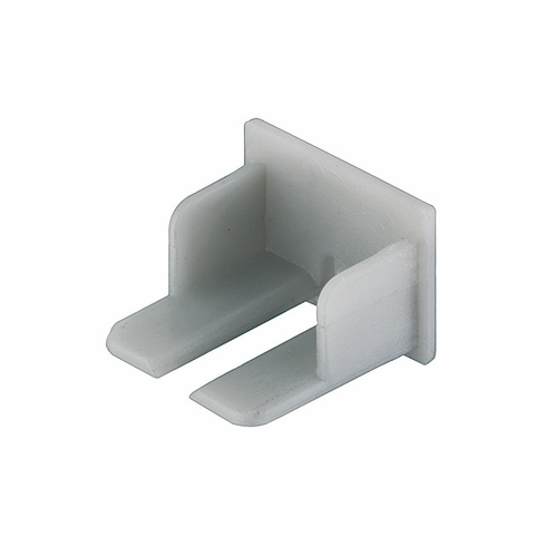 Hafele 833.72.853 LOOX End Cap, surface Profile, for 833.72.861 & 833.72.862, plastic, silver (1 pair)