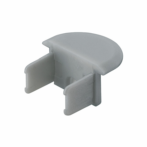 Hafele 833.72.854 LOOX End Cap, recessed Profile, for 833.72.866 & 833.72.867, plastic, silver (1 pair)