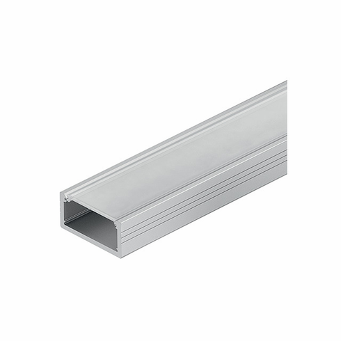 Hafele 833.72.860 LOOX Profile, shallow surface mount, aluminum, anodized, 18.5 x 8mm, 2.5m, with milk lens 833.74.781