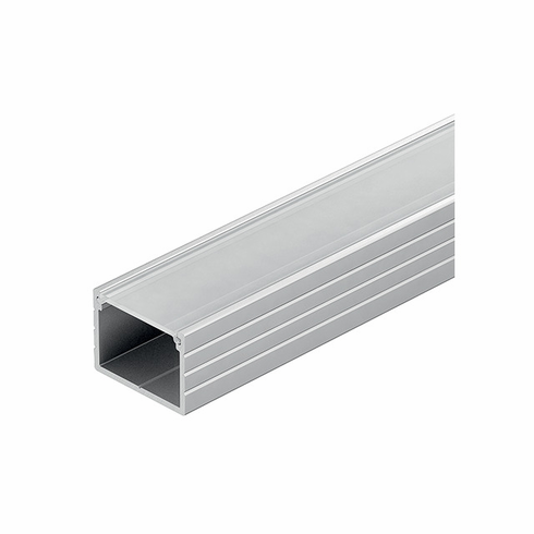 Hafele 833.72.861 LOOX Profile, surface mount, aluminum, anodized, 18.5 x 13mm, 2.5m, with milk lens 833.74.781