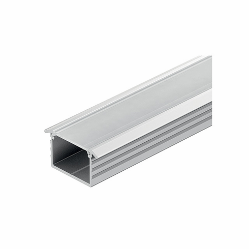 Hafele 833.72.866 LOOX Profile for LED, recessed, aluminum, anodized, 23 x 13mm, 2.5m, with milk lens 833.74.781