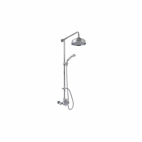 ROHL AC407LM-IB Rohl Arcana Exposed Thermostatic Shower System Complete With Therm Valve With Volume Control Riser Diverter Handshower Hose Showerhead And