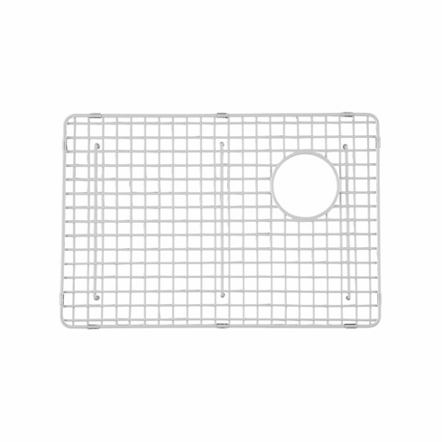 ROHL WSG4019LGWH Wire Sink Grid For Rc4019 And Rc4018 Kitchen Sinks Large Left-Hand Bowl In White Abcite Vinyl With Feet 22 7/8^ X 15 3/8^