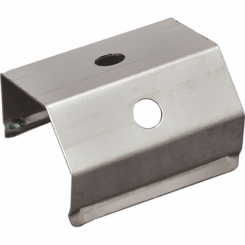 Hafele 833.74.833 LOOX Mounting Bracket, 40 degree, for profile, stainless steel, silver (1 pair)