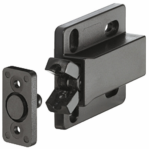 Hafele 245.50.310 Touch Latch, mini, non-magnetic, plastic, black (each)