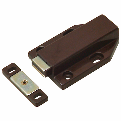 Hafele 245.61.140 Push Latch, magnetic, plastic, brown, 70mm x 46mm (each)