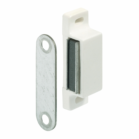 Hafele 246.29.703 Magnetic Catch, with strike, plastic, white, 4-5KG (each)