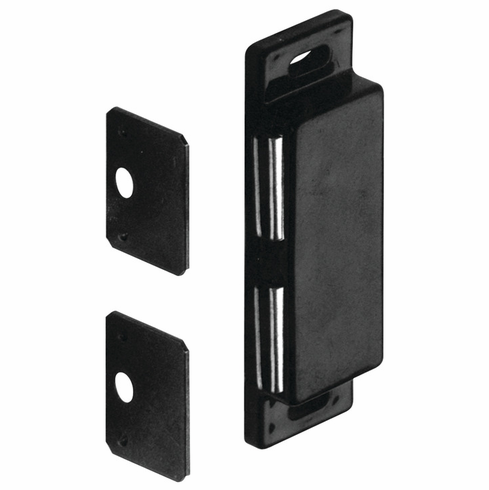 Hafele 246.36.300 Magnetic Catch, double, plastic, black (each)