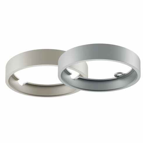 Hafele 833.75.740 LOOX LED, 24V, 3027, surface mount ring, round, zinc, nickel matt, 65mm